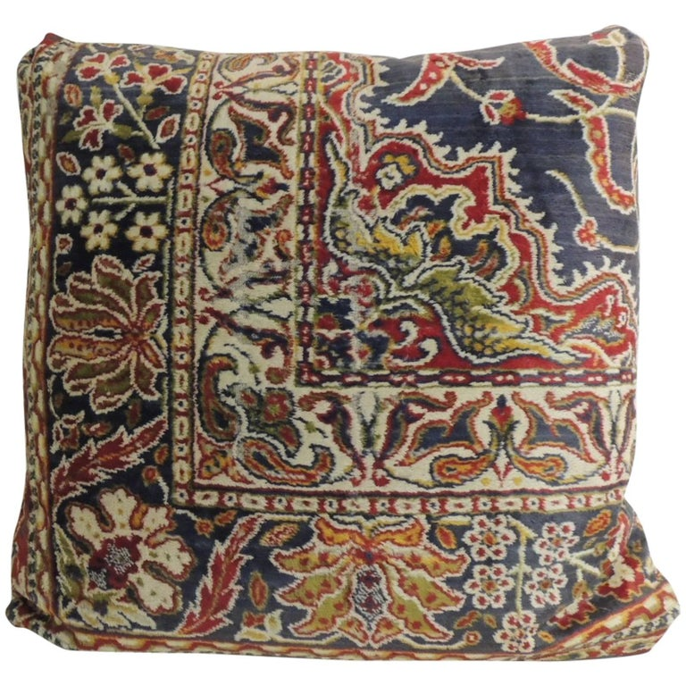 Vintage Floor Pillows : Vintage Large Cotton Velvet Floral Turkish Floor Pillow For Sale at 1stdibs