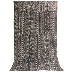 Vintage African Graphic Mud Cloth Artisanal Panel