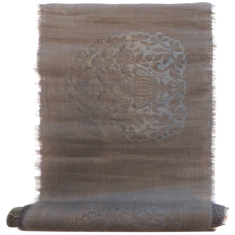 Roll Of Vintage Upholstery Horsehair Fabric