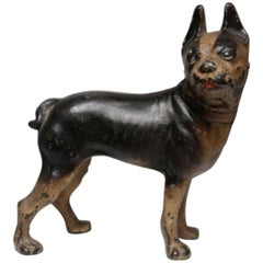 Early 20th Century Hubley Cast Iron Boston Terrier Doorstop, circa 1930s