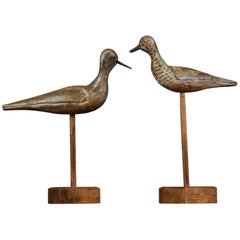 Pair of Early 20th Century Sandpiper Decoys