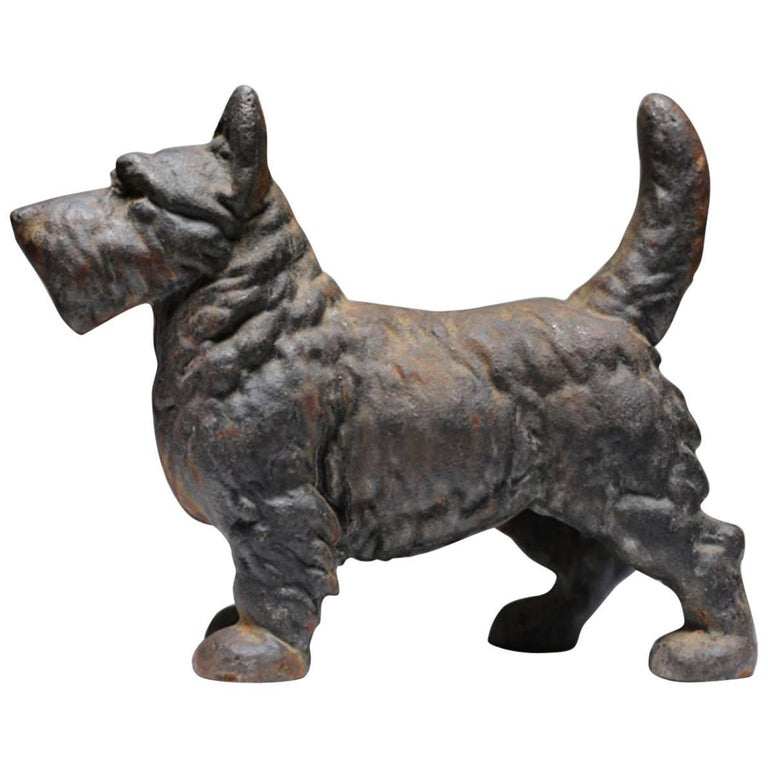 Cast iron scotty dog doorstop circa 1930 1950 at 1stdibs - Cast iron dog doorstop ...