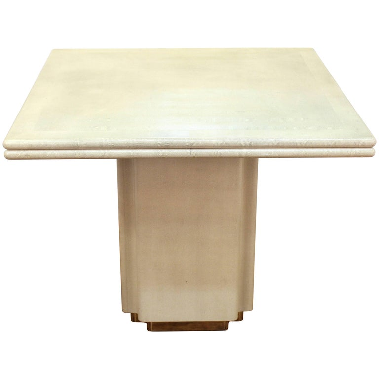 Modernist Shagreen Square Coffee Table