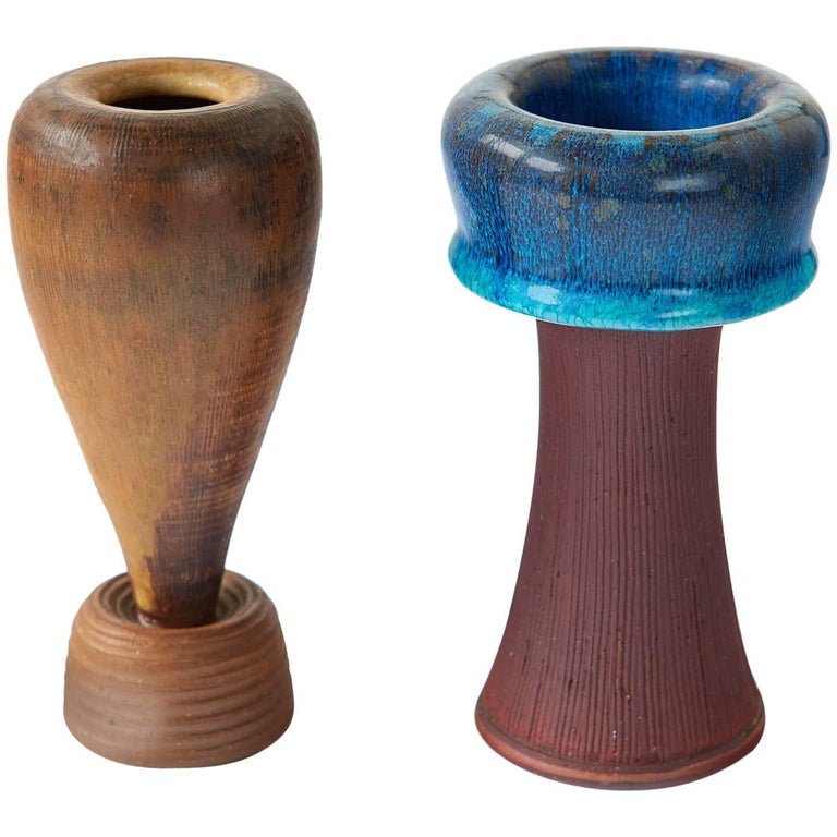 Pair of Farsta Vases by Wilhelm Kåge