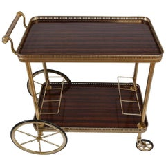 Vintage Traditional-Style Bar Cart