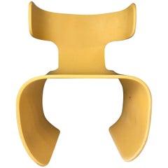 Chair of Yellow Resin, Prototype, circa 1980