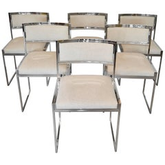 Set of Six Chairs by Willy Rizzo