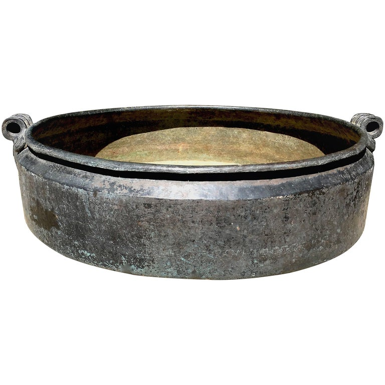19th Century Indian Bronze Urli Bowl Planter 1