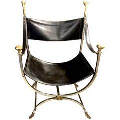 Maison Jansen Curule Savonarola Chair