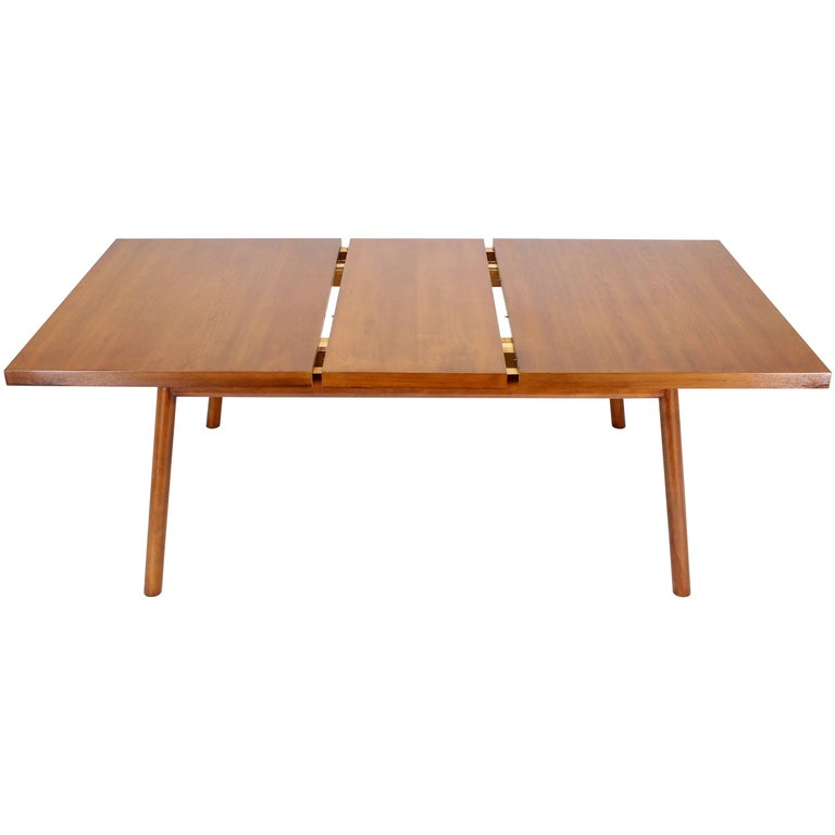 Robsjohn-Gibbings Mid-Century Modern Dining Walnut Table by Widdicomb
