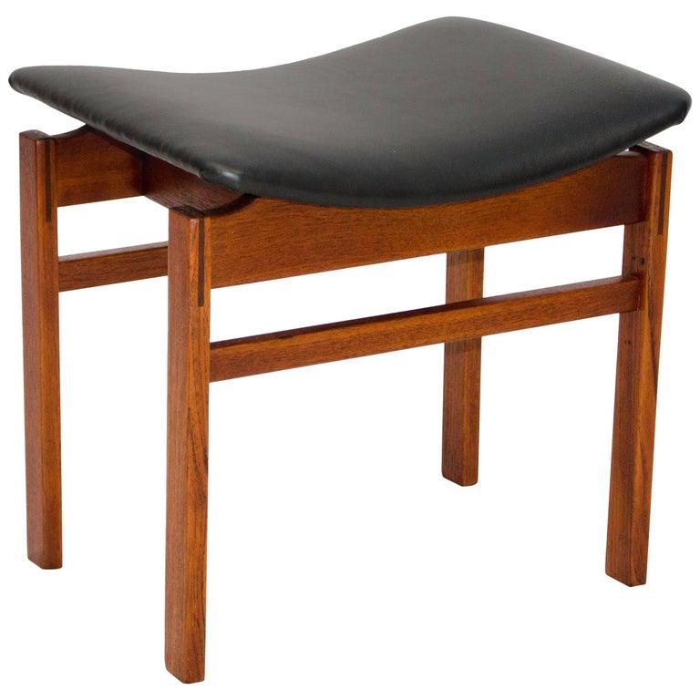 Danish Teak Small Bench or Footstool, Attributed to Finn Juhl