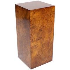 Burl Wood Mid-Century Modern Pedestal