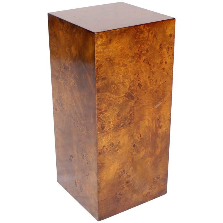 Burl Wood Mid-Century Modern Pedestal 1