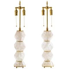 """Classic Rock Crystal Quartz Lamps - """"Eon Collection"""""""