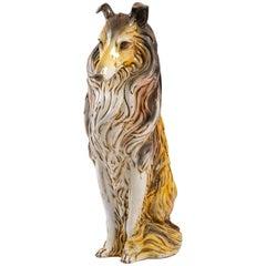 Italian Terracotta Collie Statue