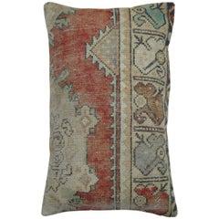 Vintage Oushak Anatolian Large Rug Pillow