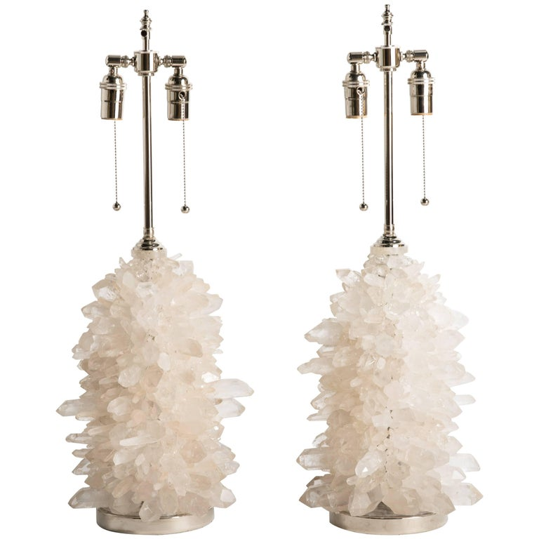 Rock Crystal Cluster Quartz Lamps For Sale