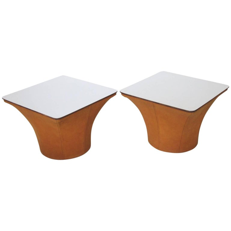1960s Mid-Century Modern Pair of Side Table Mushroom Model