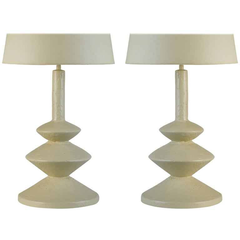 Two Table Lamps after Jean Michel Frank and Giacometti for Sirmos