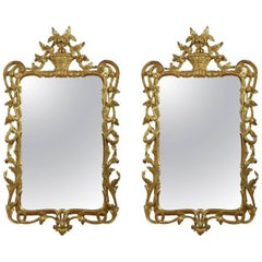 Pair of George III Style Gilt Framed Wall Mirrors