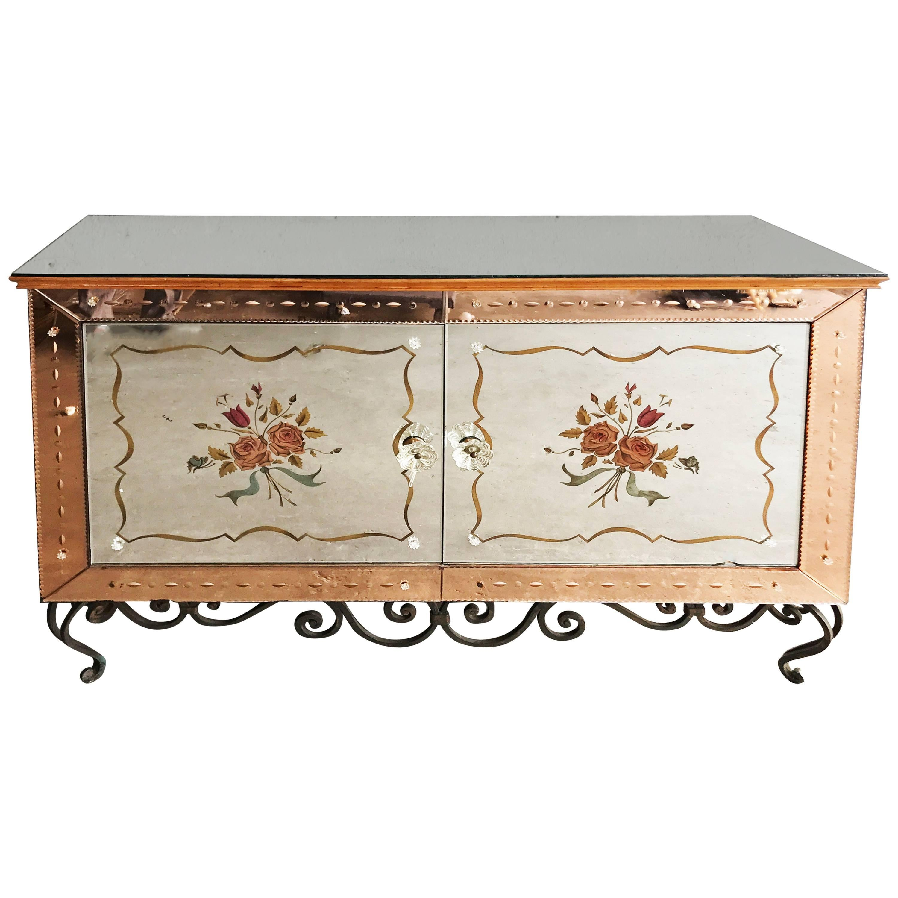 1940s Mirrored French Sideboard