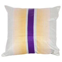 Pillow Fashioned from an Early 20th Century Uzbek Silk Textile