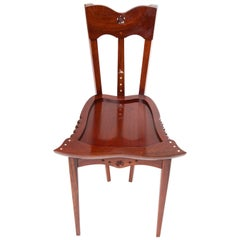 YOOCHAI CHAIR Borek Sipek rosewood hand-carved  with mother-of-pearl Scaraba