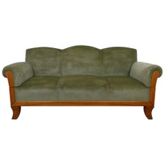 Three-Seat Cherry Framed Sofa from Germany, 1930s