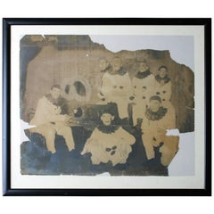Rare and Large Photograph of a Pierrot Clown Troupe, circa 1900-1910