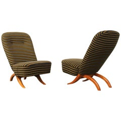 Set of Two Congo Chairs by Tho Ruth for Artifort, Dutch Design, circa 1950