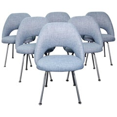 Eero Saarinen Executive Side Chairs Newly Upholstered for Knoll