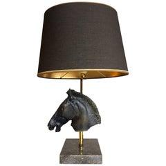 Maison Jansen Style Sculptural Horse Head Lamp