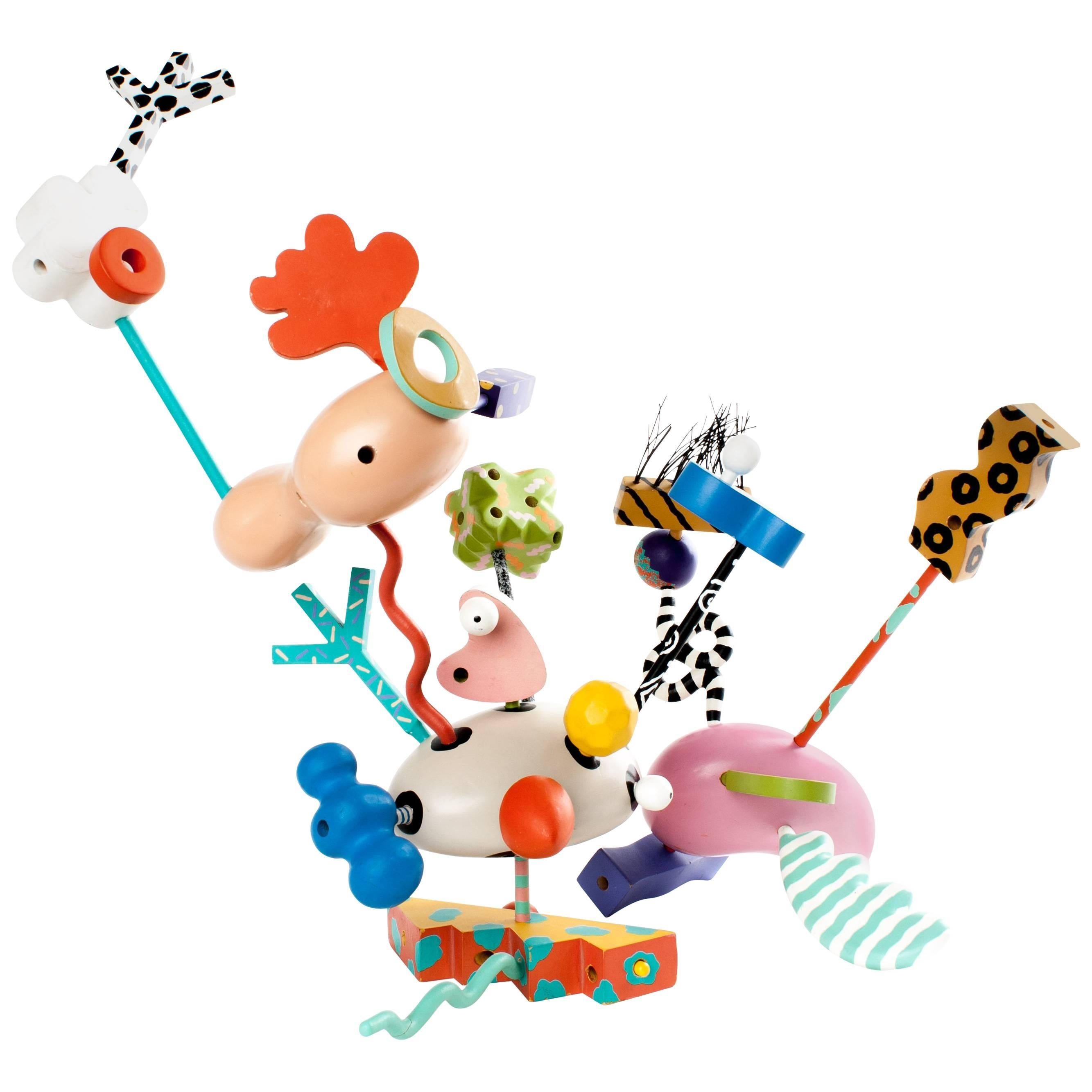 Memphis Zolo Wooden Toys, Designed By Byron Glaser And Sandra Higashi, Moma