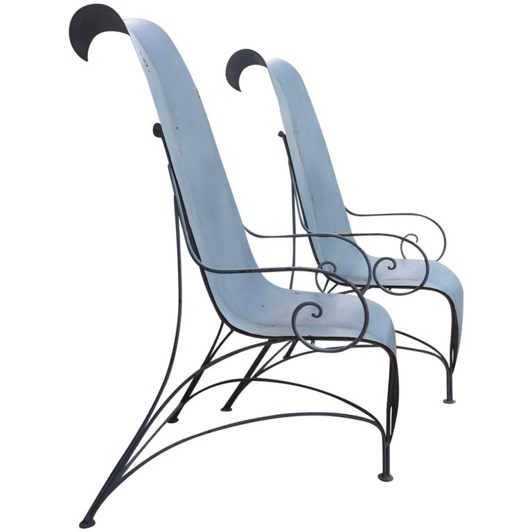 "Pair of Fabrizio Corneli ""Leave"" Chairs, 1986 1"