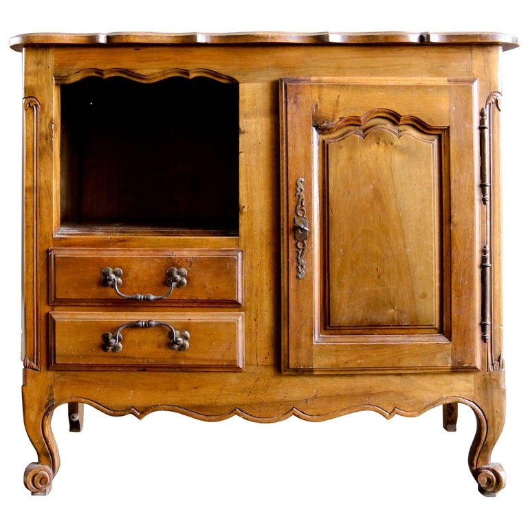 19th Century French Walnut Cabinet in Louis XV Style