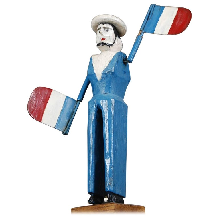 20th Century Patriotic French Whirligig