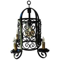 Art Deco Iron Chandelier Lantern
