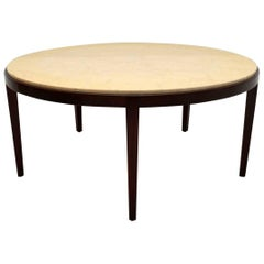 Danish Retro Rosewood and Marble Coffee Table