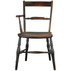 Late 19th Century One Armed Military Officers Windsor Chair