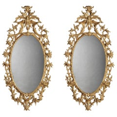 Pair of English Giltwood Mirrors in the George III Style
