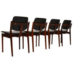 Set of Four Danish Rosewood Dining Chairs by Arne Vodder for Sibast Vintage