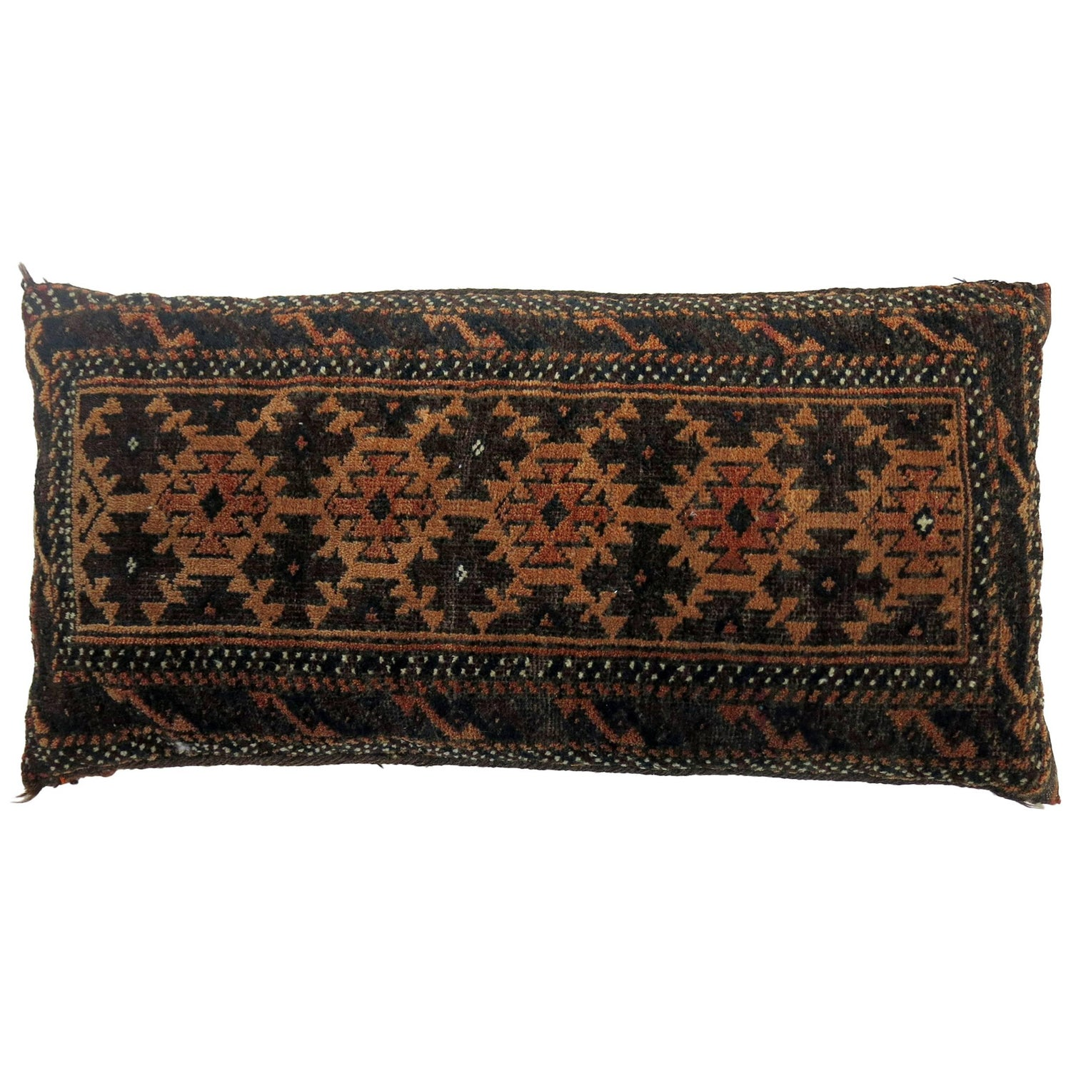 Antique Large Floor Pillow Made Out Of A Turkmen Tekke