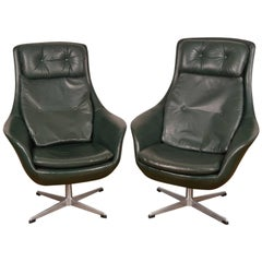 Pair of H. W. Klein High Back Lounge Chairs for Bramin