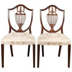 Pair of Side Chairs, Late 20th Century, Harrods After Hepplewhite