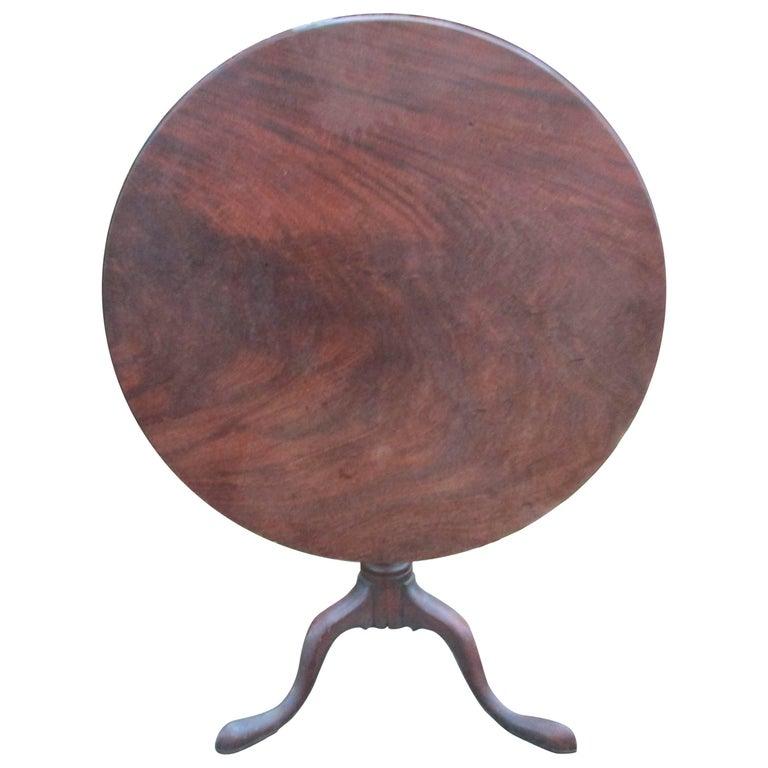 18thc Georgian Mahogany Tilt Top Table For Sale