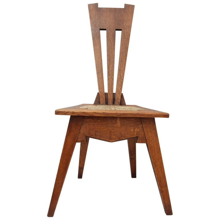 Arts & Crafts Oak Wycliffe Chair