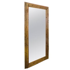 Large Dimensional Bamboo Frame Full Length Mirror