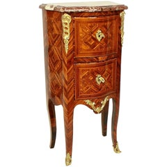 Small Tulipwood and Parquetry Commode, Late Regence, in the Manner of M. Criaerd
