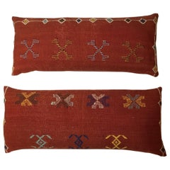 Pair of Moroccan Cactus Silk Pillows
