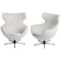 Pair of Jupiter Chairs, circa 1966, Pierre Guariche for Meurop